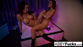 Abigail Mac strips then fucks her stripper friend