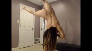 Big ass Latina does strip show for me