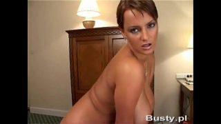 Milf strip with huge tits