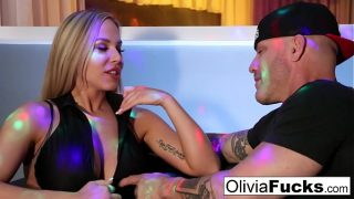 Olivia Austin takes on a customer in the VIP